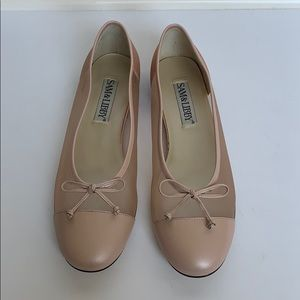 SAM & LIBBY Baby Pink Mesh Ballet Shoes